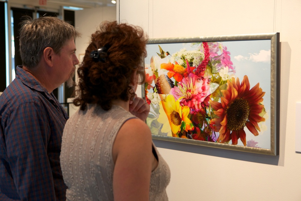 "Tom Johns & Lee Burdick checking out ""Miranda in Bloom"""
