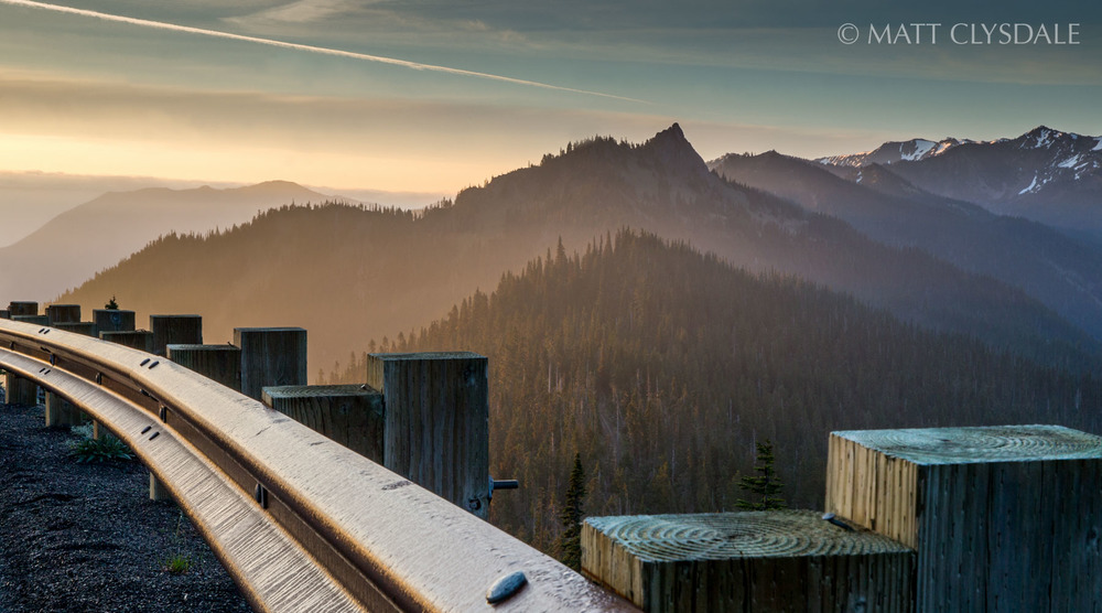 """Clearcut Sunrise""  Hurricane Ridge - Olympic National Park, Washington"
