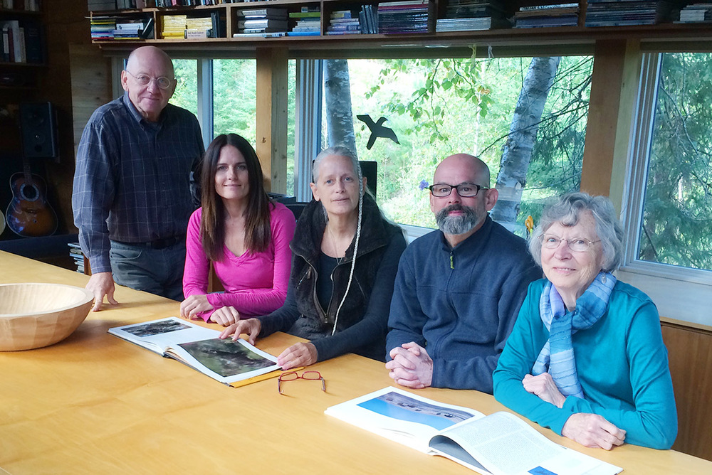 From L to R:   Jim Brandenburg  , Julia Huffman, Susan Feathers (on behalf of Anca VanAssendelft), Matt Clysdale, Beth Little (Photograph by Judy Brandenburg)