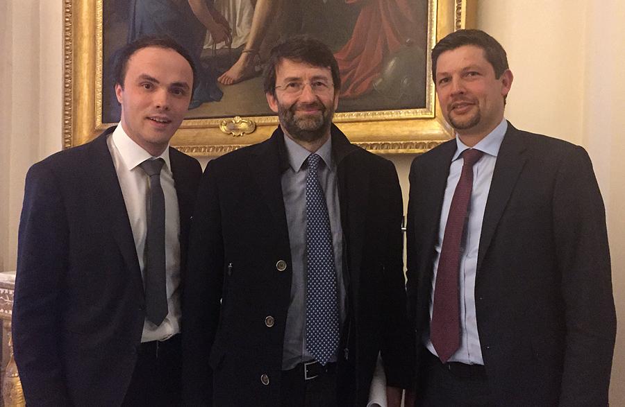 In Rom mit  Kulturminister Dario Franceschini  und  Daniel Alfreider