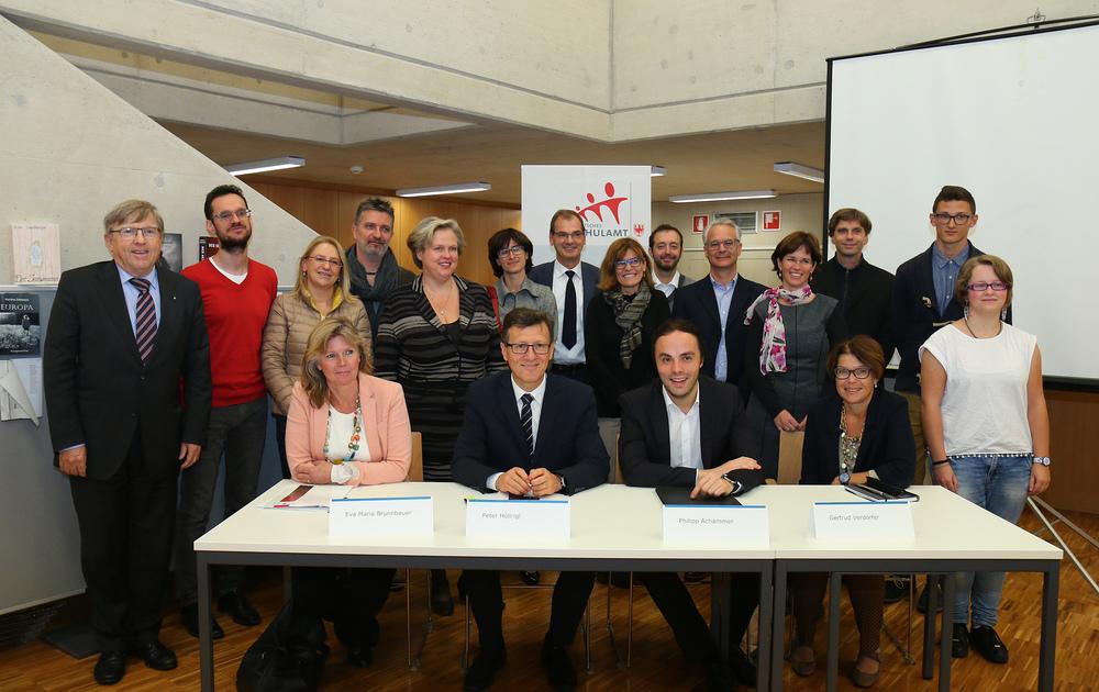 Pressekonferenz zur Vorstellung des Projekts Rendezvous mit dem Traumberuf.