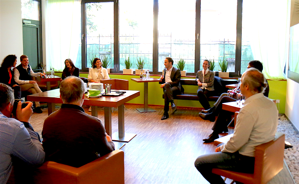 Im Gespräch mit den Lehrpersonen an der Berufsschule Tschuggmall