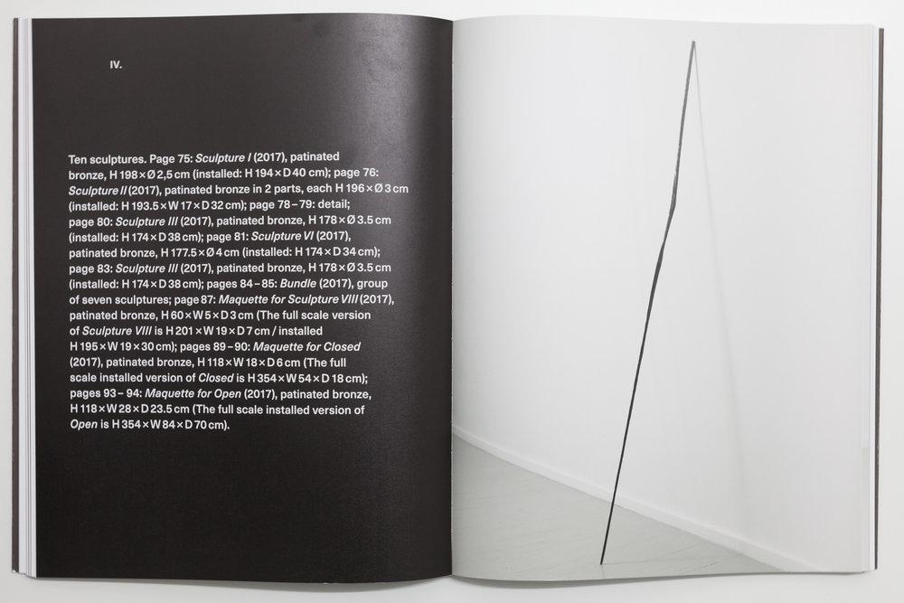 Oppslag i Jan Groth.Katalog i forbindelse med festspillutstillingen i Bergen 2017. Bilder på side 75–94 av nye skulpturer.