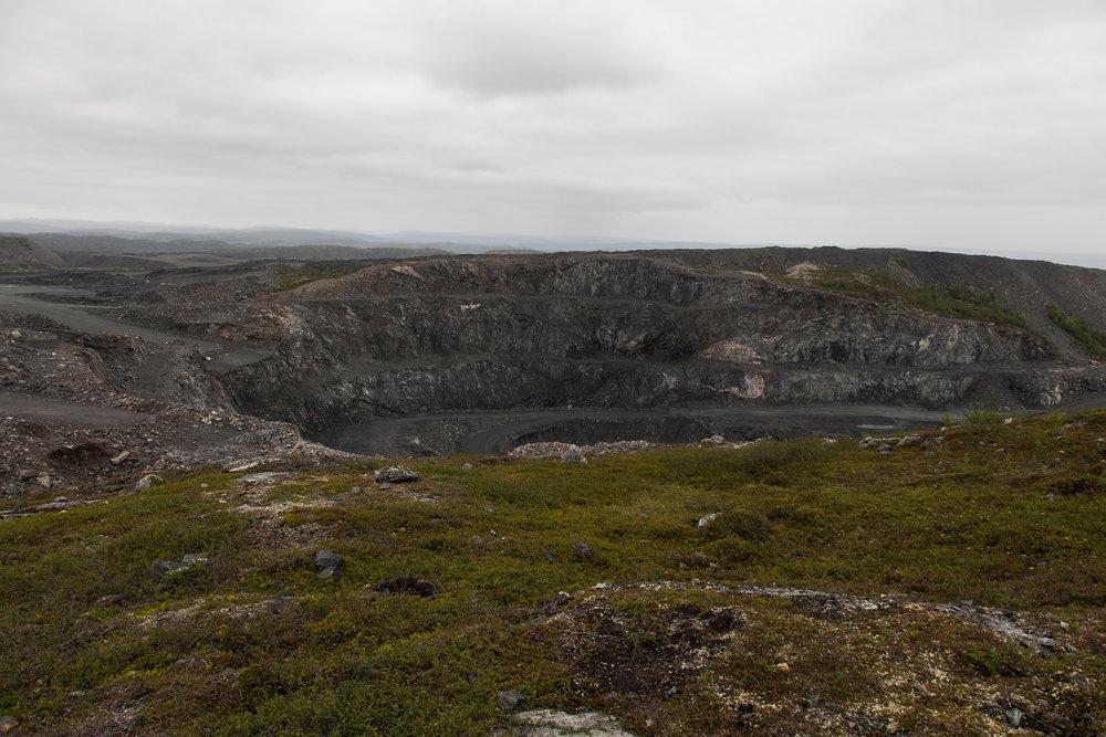 4 Gruvekrater Sydvaranger gruve 2016
