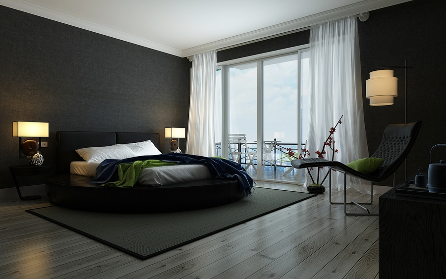4 reasons to paint your ceiling black summerhaus dzign Chambre a coucher moderne blanc