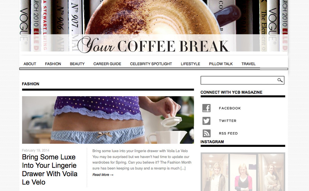 Your Coffee Break online magazine. Click to read the article