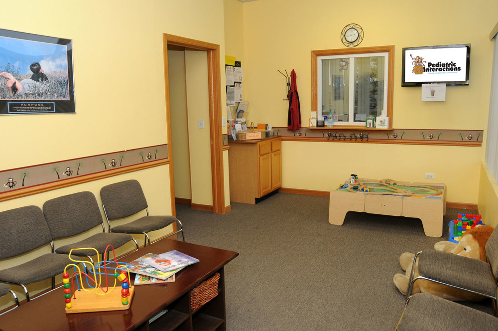 Our waiting room, friendly for kids and siblings