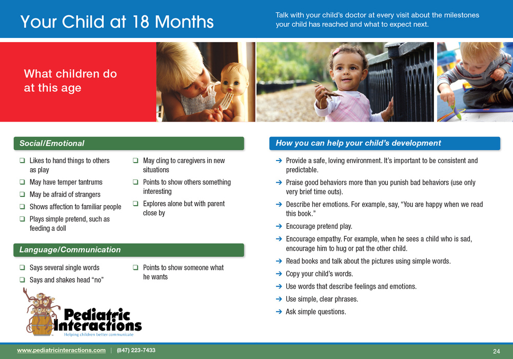 Download your copy of 18 Month Milestones