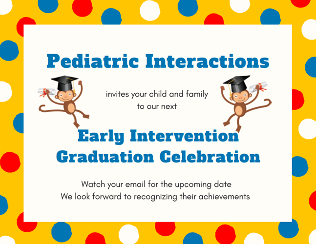 Pediatric Interactions hosts this event in Summer and Winter for children who have graduated from EI