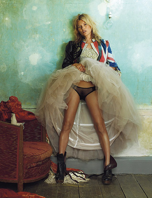 Kate Moss, British Vogue by Mario Testino 2008