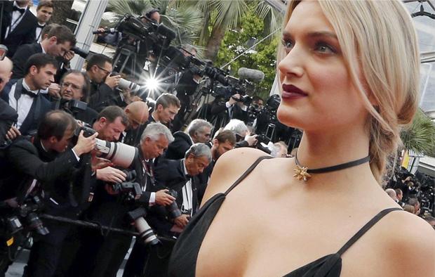 LILLY DONALDSON  Gown: Saint Laurent |Jewels: Atelier Swarovski
