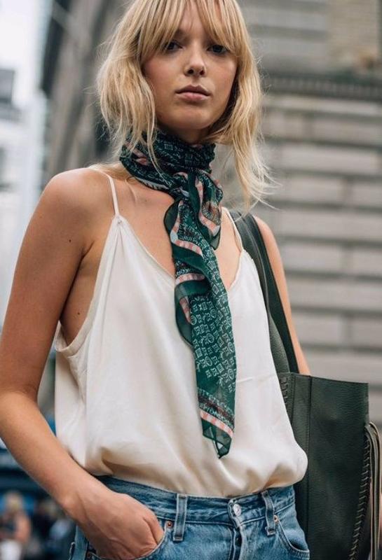 Styling Silk Scarf in Summer