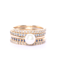 Gold and Blue Eternity Ring