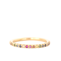 Gold & Rainbow Eternity Ring