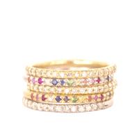 Eternity Ring Rainbow and Diamond Stack