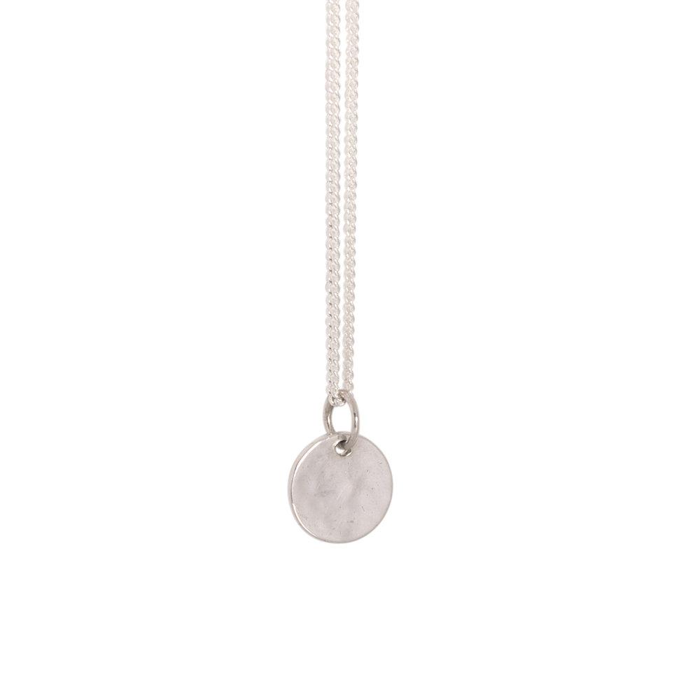 Silver Mini Sequin Necklace