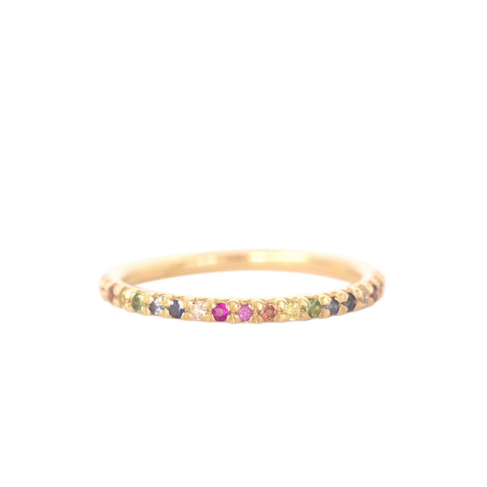 Gold Rainbow Eternity Ring