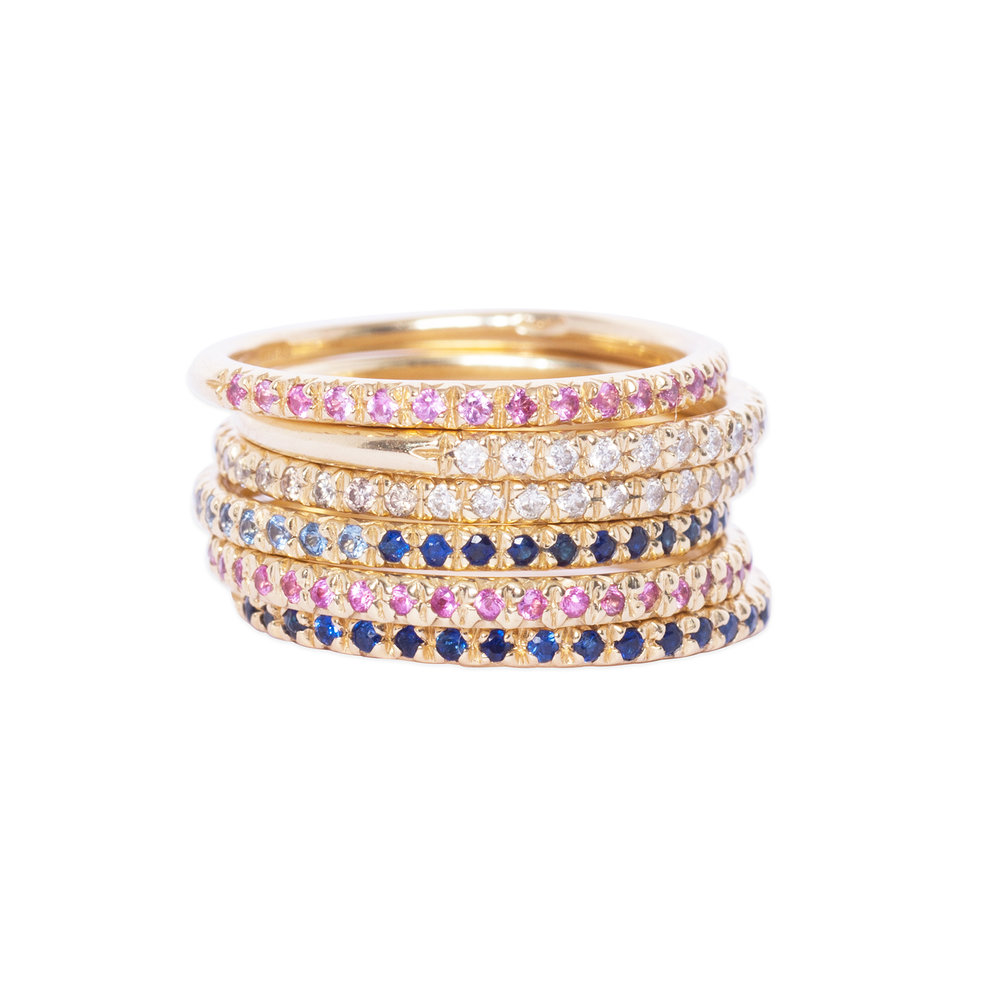 14ct gold eternity rings