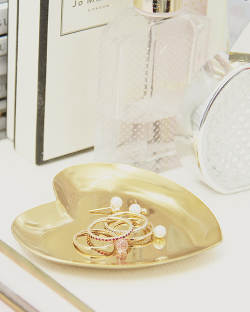 GOLD HEART RING DISH