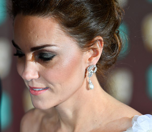Duchess of Cambridge Bafta's 2019 | Pearl and Diamond Earrings