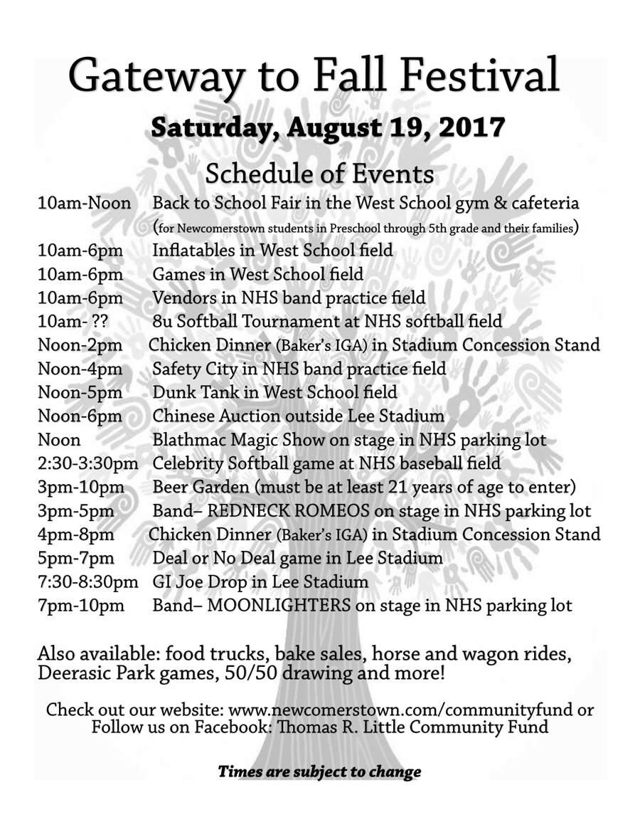 Check out this awesome line up of events for the first annual Gateway to Fall Festival on Saturday, August 19th. Tickets for Deal or No Deal and GI Joe Drop are available now.