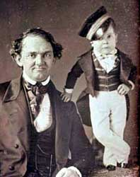 Photo: P.T. (Phineas Taylor) Barnum and General Tom Thumb