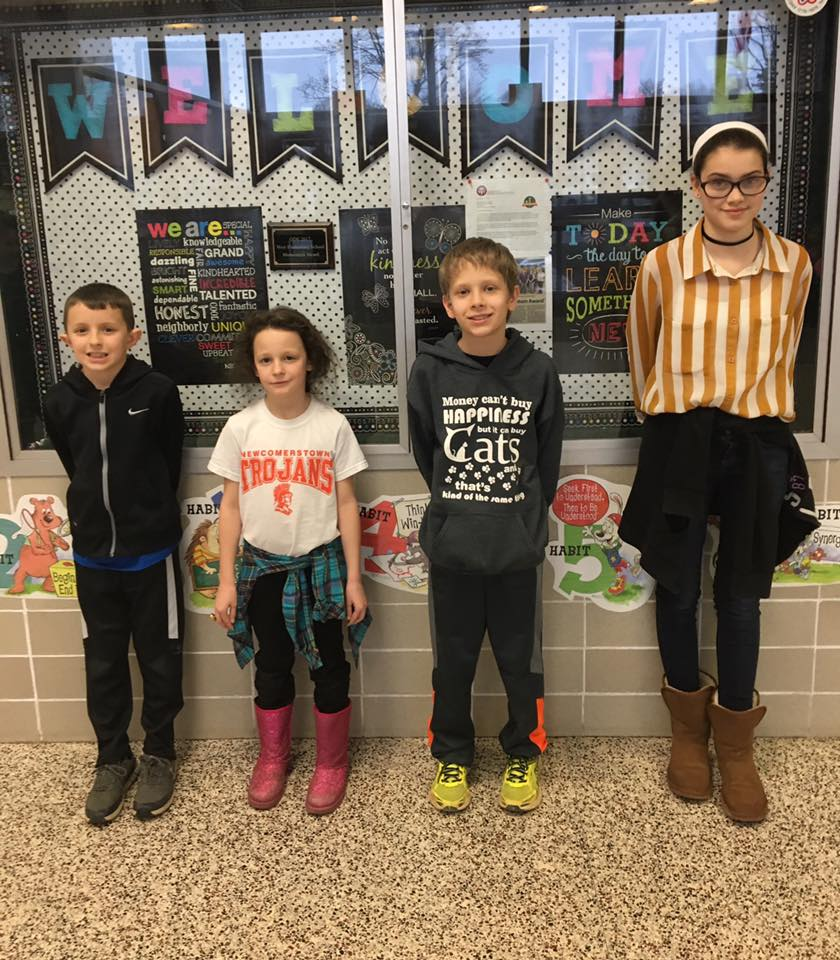 Gavin Cooper, 2nd-grade, Miakoda Pippin, 3rd-grade, Hayden Williams, 4th-grade, Rettie Donathan, 5th-grade.