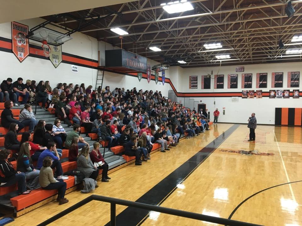 A great and worthwhile message was presented today by Ty Sells to Newcomerstown High School students.  Youth to Youth International provided the guest speaker. He focused on the power of not only embracing yourself but also accepting others. He also talked about the positive side of being drug-free and the influence you, personally, can have on others by the way you treat them.
