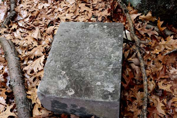 Anna Mary, the wife of Christopher Stockum, died August 29, 1863, aged 42 y, Hm 2.The remaining inscription is too difficult to read.