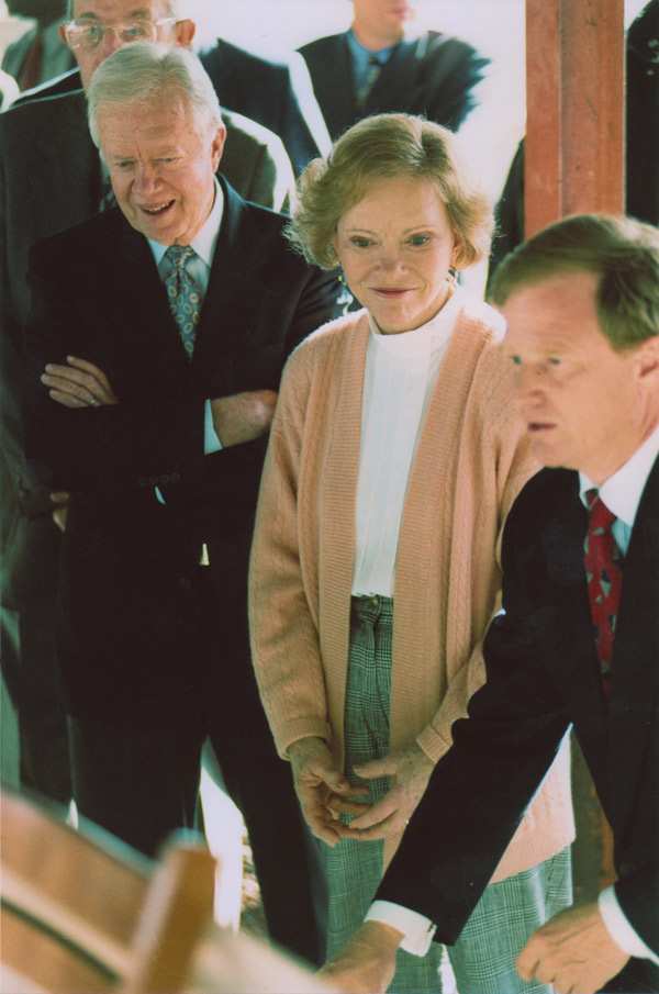 Wade Burns with Jimmy and Rosalynn Carter