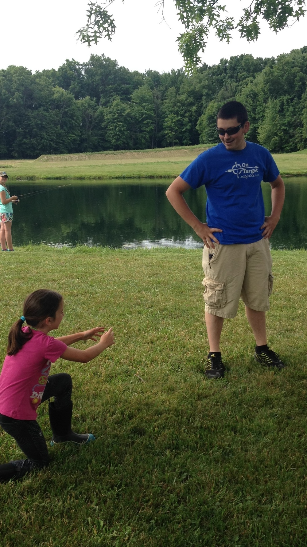 Yes, this is a camper proposing to Clayton. And yes, she was bribed with a dilly bar to do this.