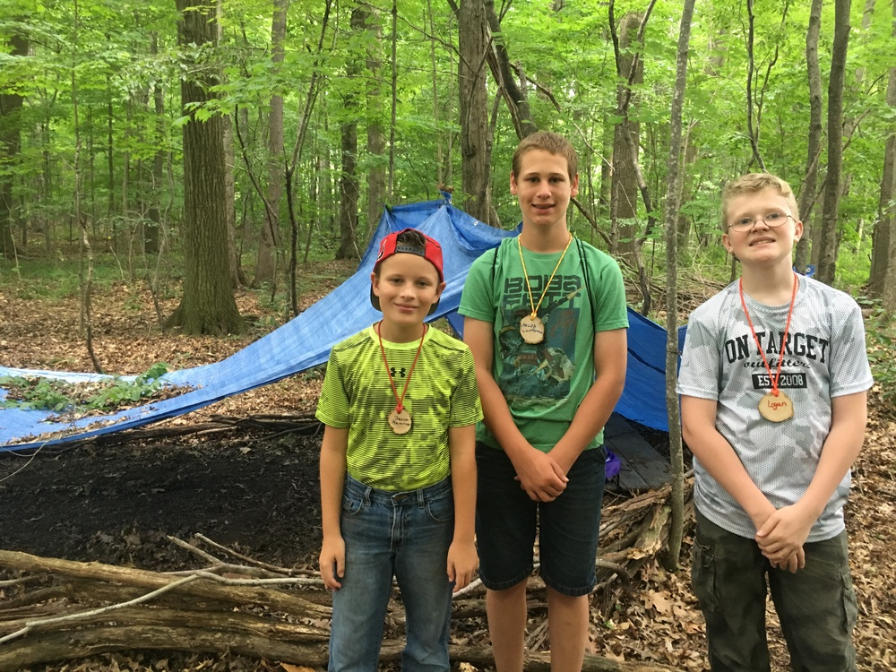 Man vs. Wild didn't get to sleep in the shelters that they made but they still had a blast!