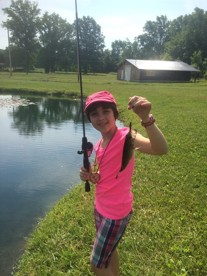 Join our Fish On! camp to experience this moment, catching your first fish ever!!