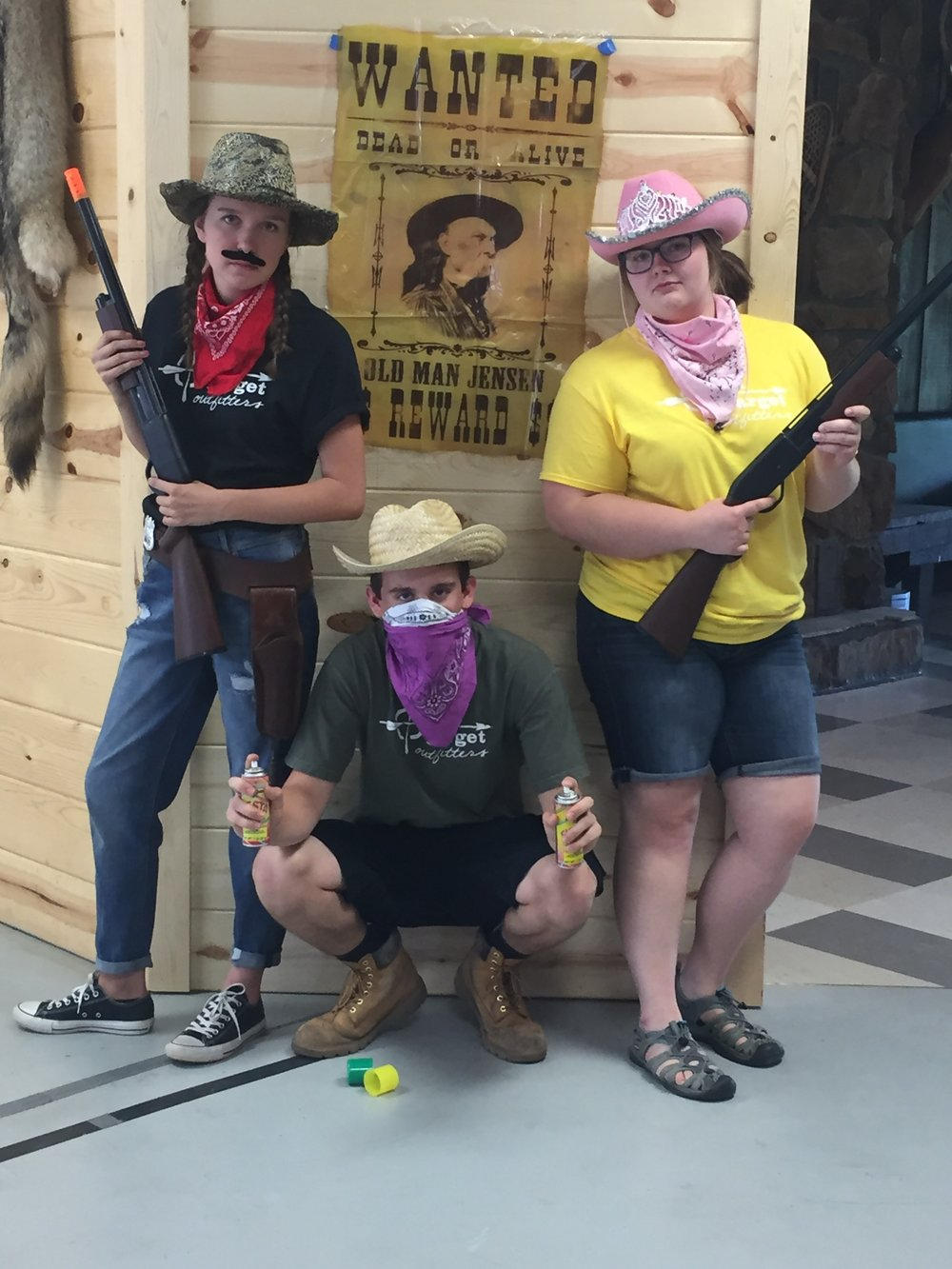 Wild West Day with the staff