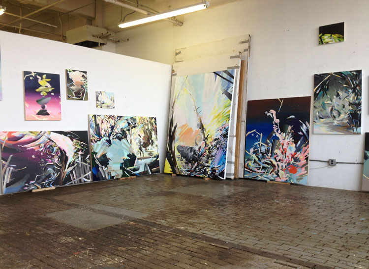 Karen Seapker's studio at Brooklyn Navy Yards