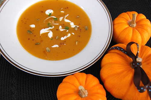 Arvinda's Curried Pumpkin Apple Soup using Arvinda's Curry Masala