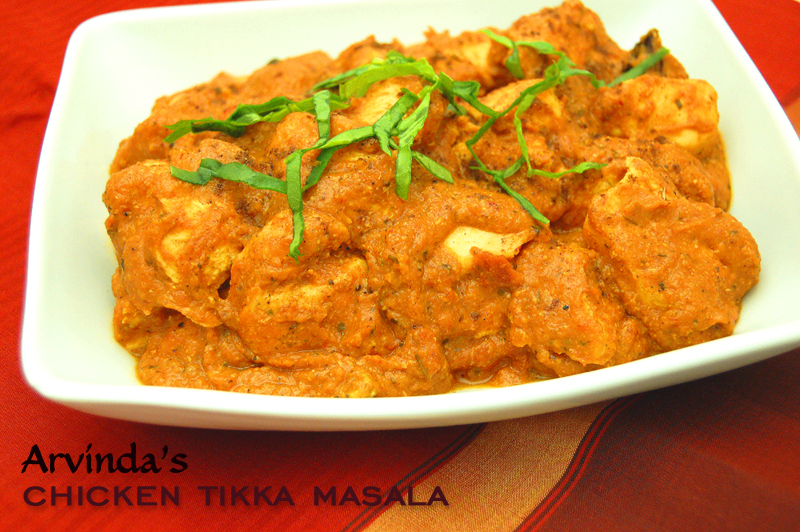 Chicken Tikka Masala recipe using  Arvinda's Tikka Masala.