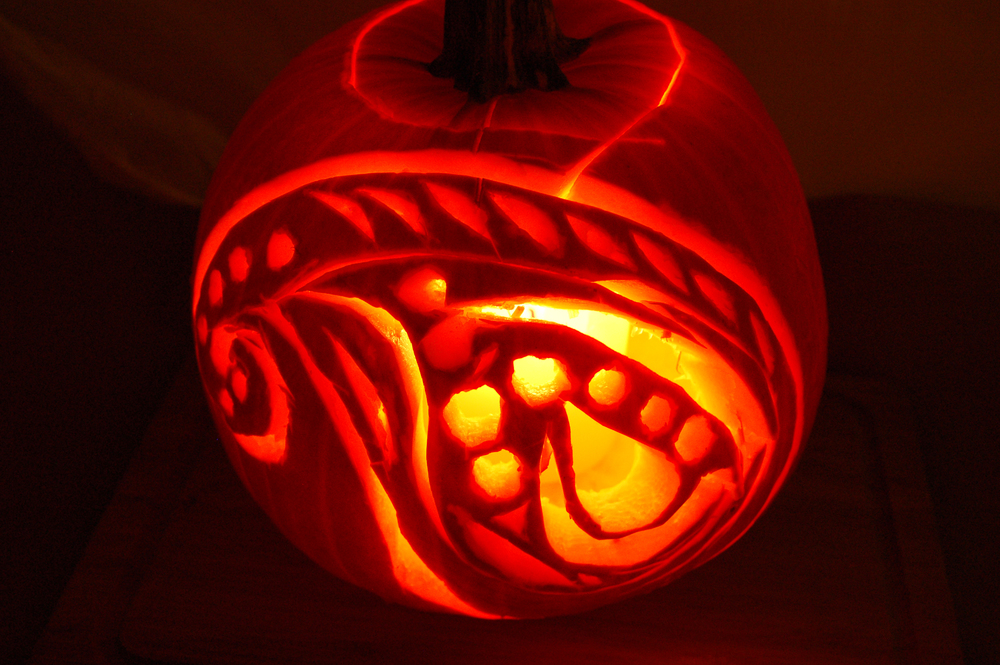 Our Indian paisley pumpkin doubles up for both Hallowe'en and Diwali, India's Festival of Lights.