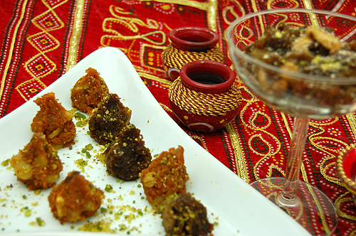 Arvinda's Pumpkin Ka Halwa can also be moulded and served on a plate.