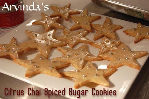 Arvinda's Citrus Chai Spice Sugar Cookies