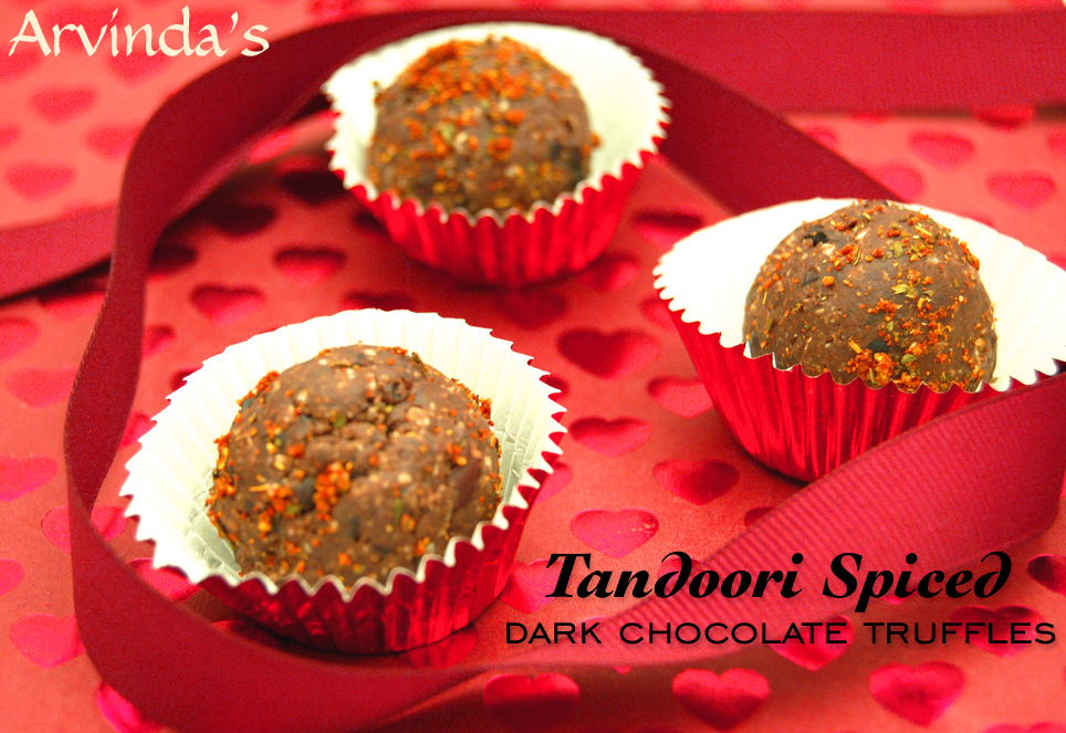 Treat a loved one or a friend to something handcrafted from your kitchen this Valentine's Day. Arvinda's Tandoori Spiced Dark Chocolate Truffles would be just perfect for the Indian food lover!