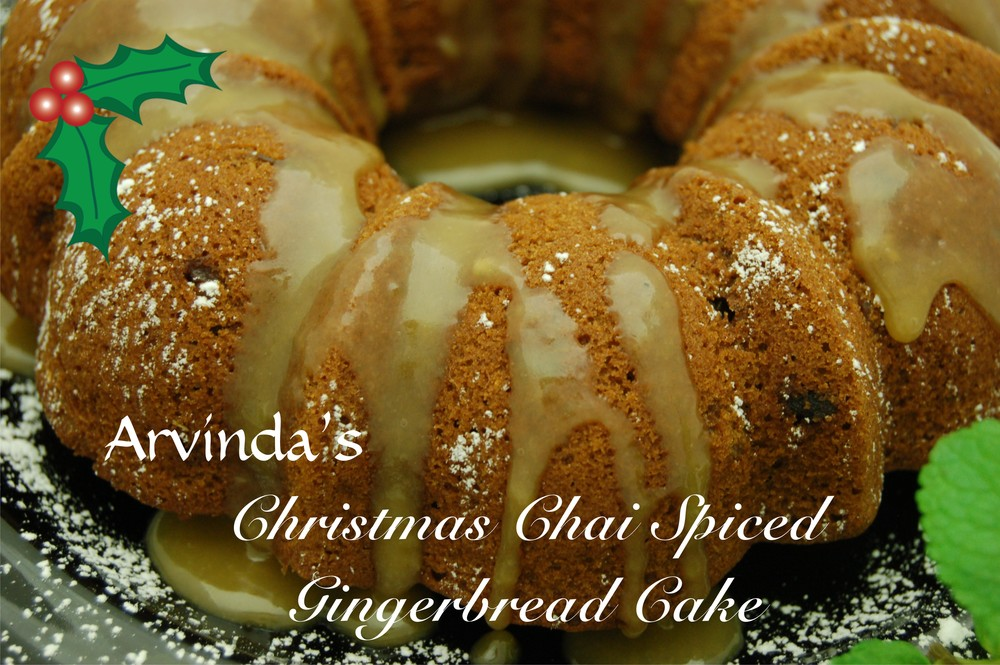 We love this beautiful, airy Christmas Chai Spiced Gingerbread Cake scented with the warming spices of Arvinda's Chai Masala. An added bonus for your guests: Serve with a steamy cup of Arvinda's Christmas Chai tea - a perfect complement!