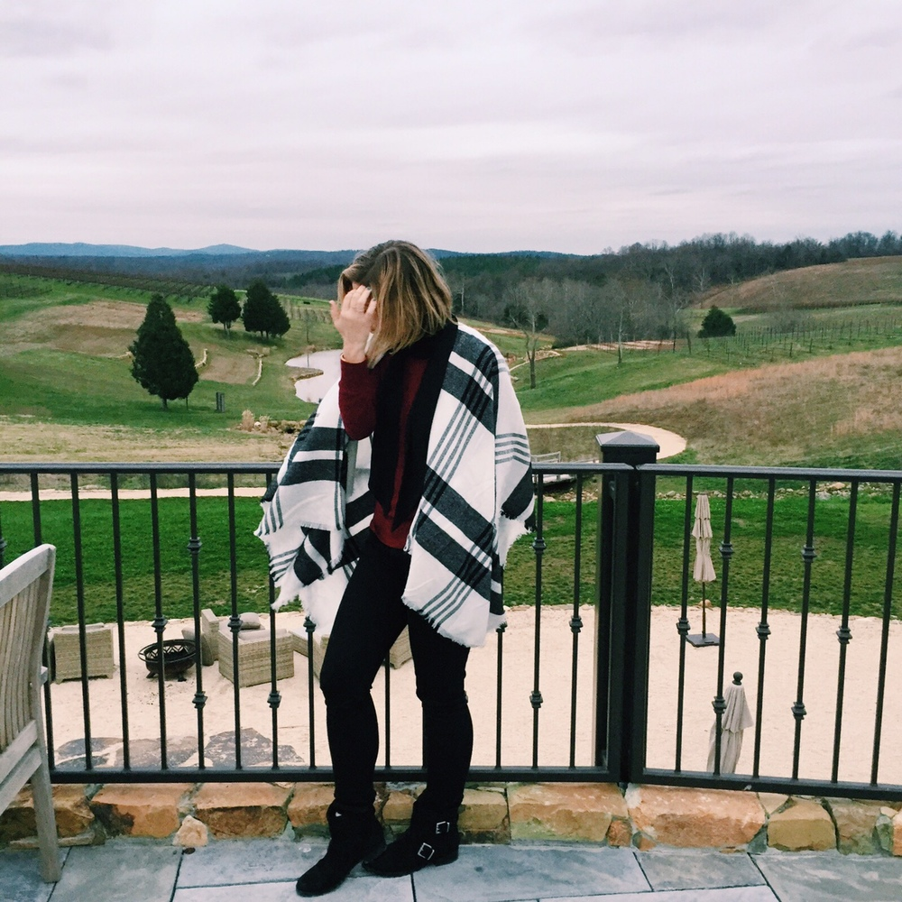 Took my sister to our favorite winery,  Stone Tower in Leesburg