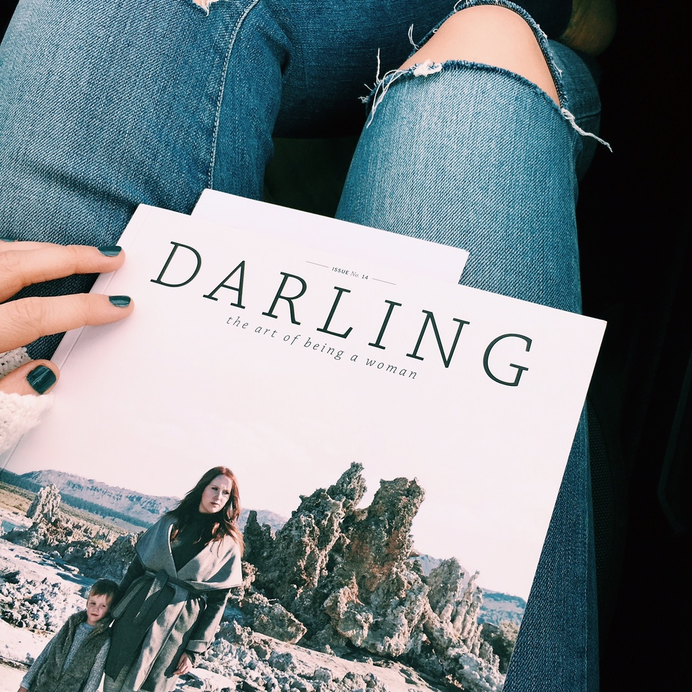 Fell in love with  Darling Magazine  (and  tried green nail polish  - LOVE)