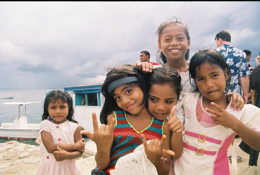 A cute bunch of kids we brought food for in Fiji