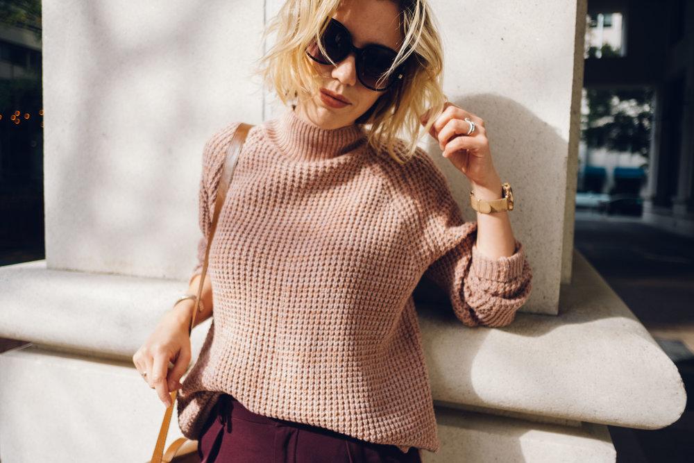 waffle-knit-sweater