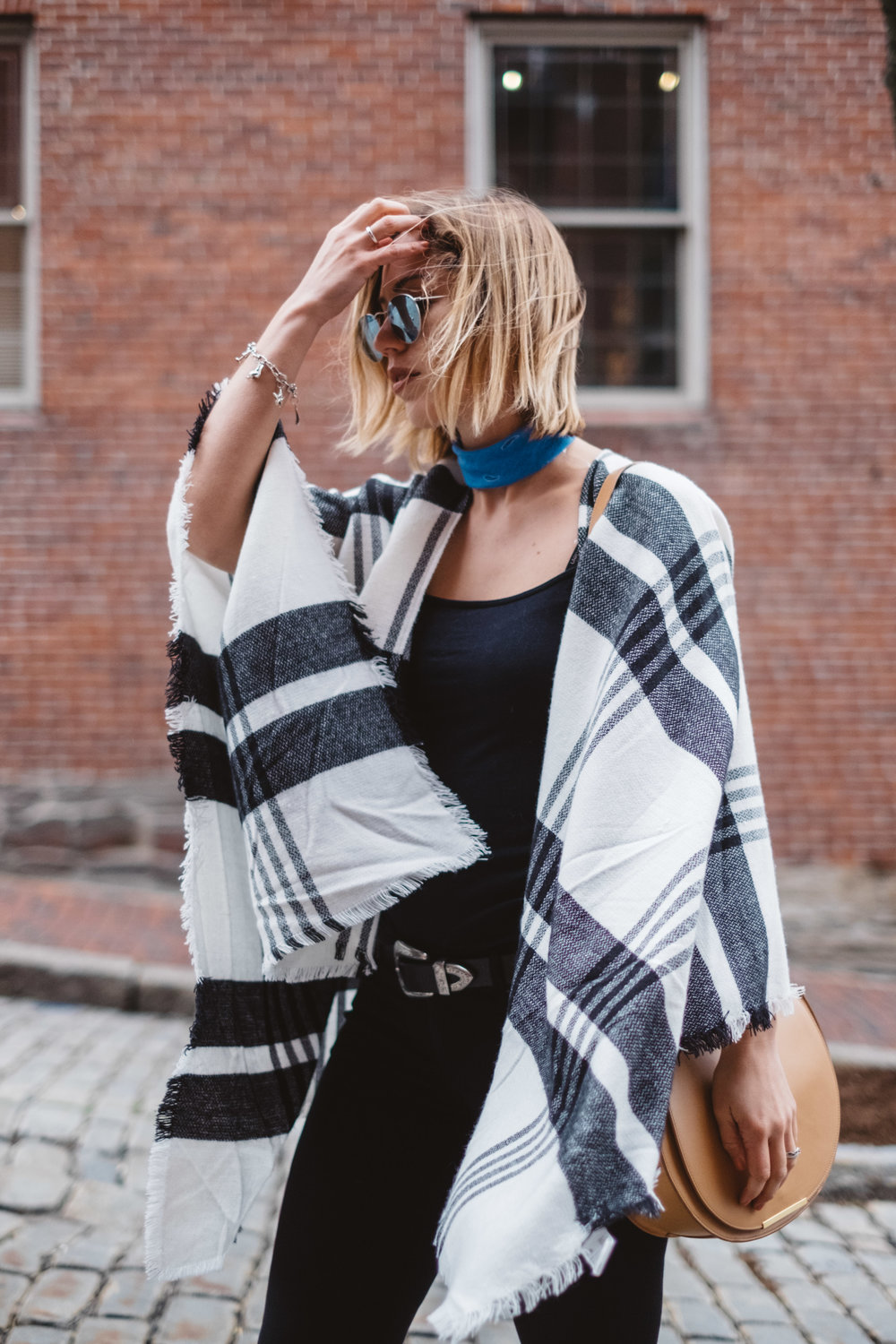 black-and-white-poncho