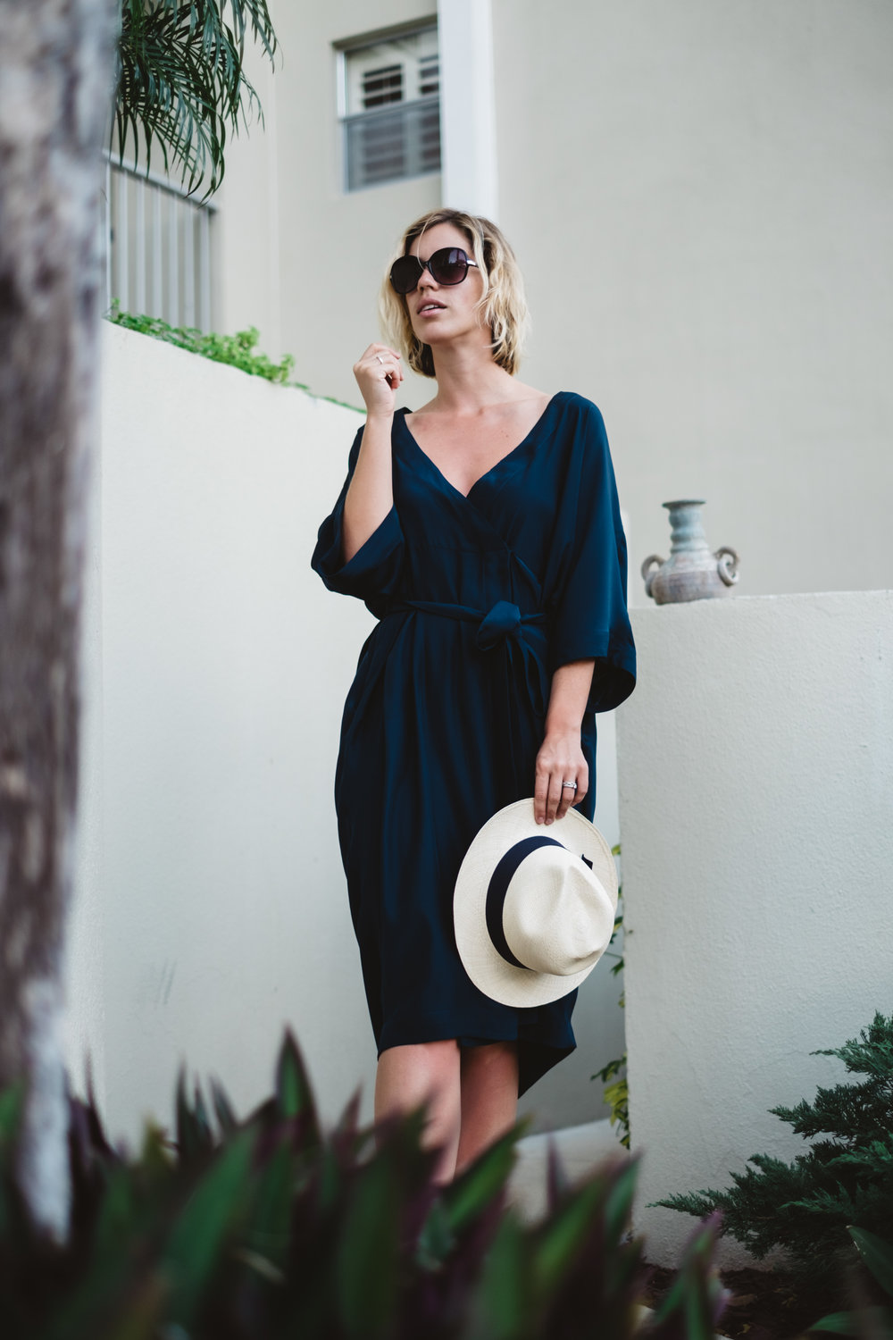 Navy-Blue-Silk-Dress