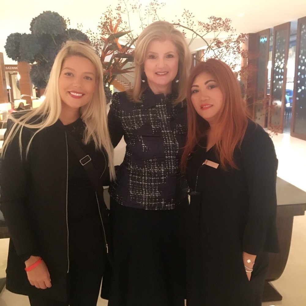 doing Arianna Huffington's makeup, in collaboration with VIP Treatments