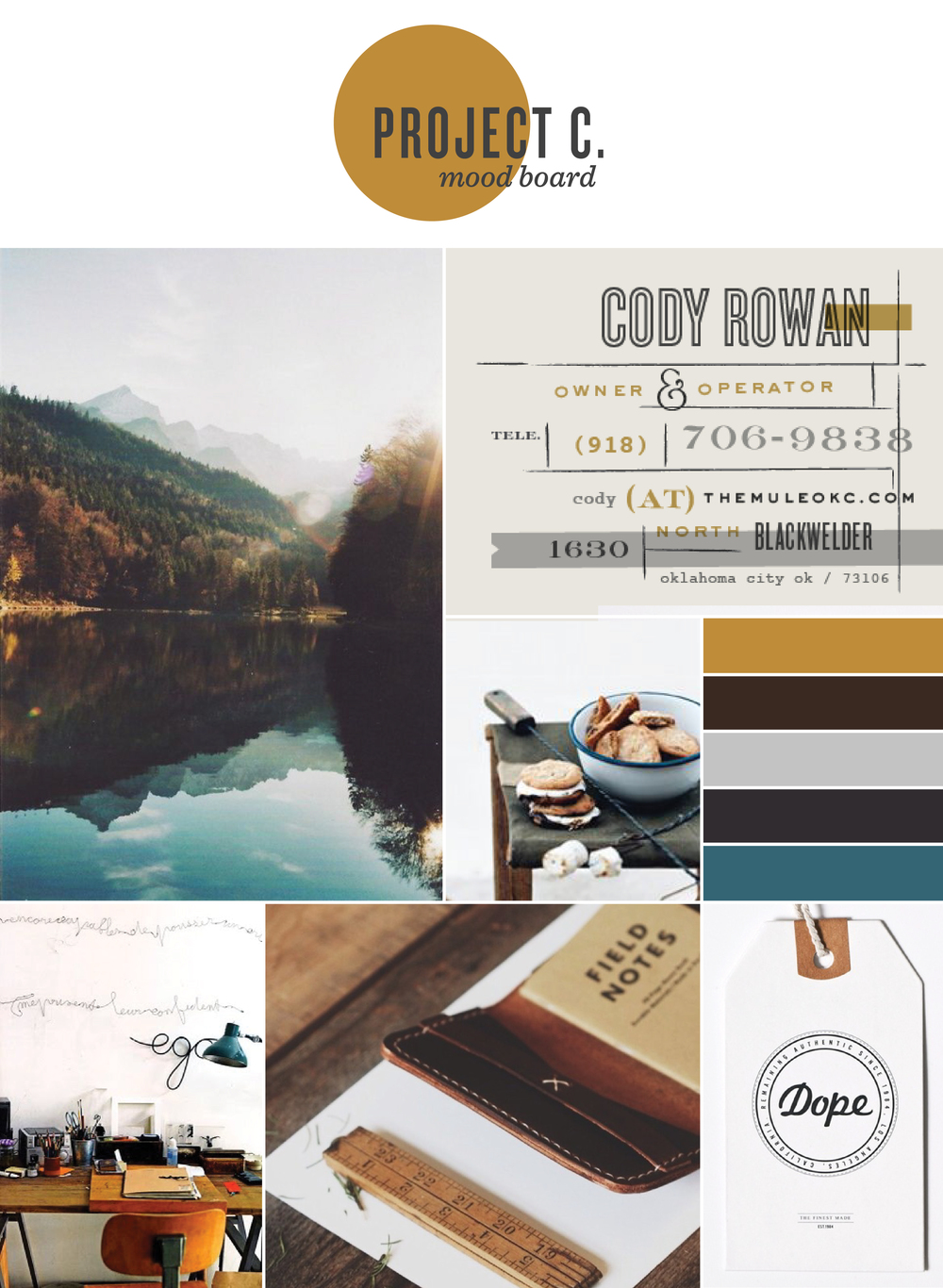 Mood Board for Branding Project - Kayd Roy